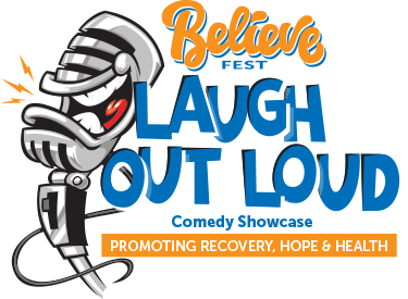Believe Fest Laugh out loud logo